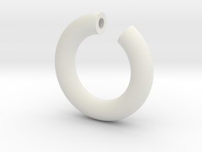 Broken Torus in White Natural Versatile Plastic