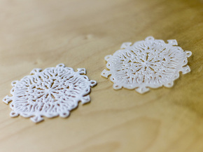 Snow Flake Earrings in Purple Processed Versatile Plastic