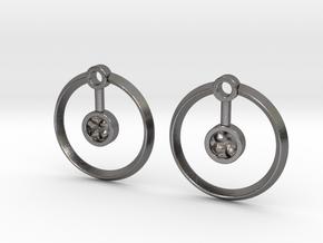 Hydrogen Earring in Polished Nickel Steel