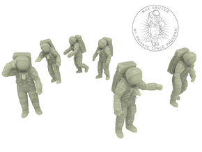 Apollo 11 Astronauts 1:87 in White Natural Versatile Plastic