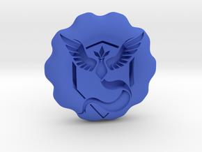 Team Mystic Badge/Coin in Blue Processed Versatile Plastic