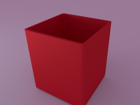 Optional inner pot for Mini cubed (floral patterne in Red Processed Versatile Plastic