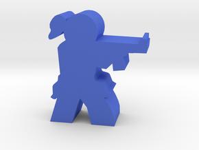 Game Piece, Militia Shocktrooper Edy in Blue Processed Versatile Plastic