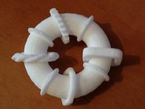Mini Fidget #1 in White Strong & Flexible