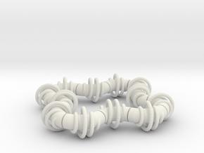 Twisting Links Fidget - Helix in White Strong & Flexible