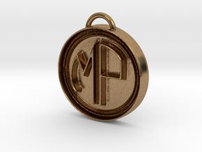 Deco Monogram in Natural Brass