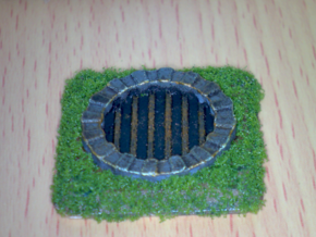 Fantasy Sewer Grate Plate in White Strong & Flexible Polished