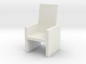 2x2 Cm Chair in White Natural Versatile Plastic