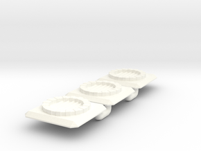 Fantasy Sewer Grate x3 Batch in White Processed Versatile Plastic