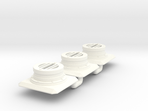 Modern Sewer Grate x3 Batch in White Processed Versatile Plastic