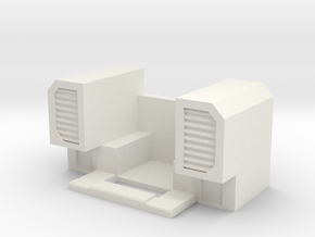 Menasor Shoulder Vents in White Natural Versatile Plastic