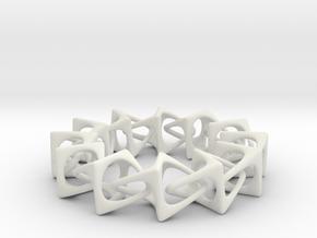 Artistic bracelet 001 in White Natural Versatile Plastic