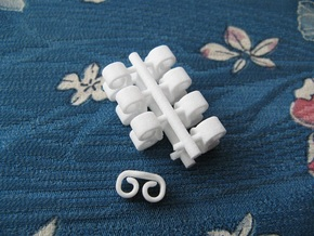 Butterfly Retainers x8, for Ear Studs (Plastic) in White Processed Versatile Plastic