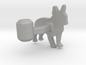 French Bulldog Cufflink in Aluminum