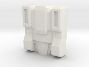 Slog/Kakuryu Faceplate (Titans Return) in White Natural Versatile Plastic