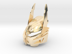 Bionicle Heroes style Kanohi Ignika in 14k Gold Plated Brass