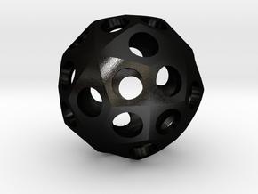 Triacontihexahedron Roller in Matte Black Steel