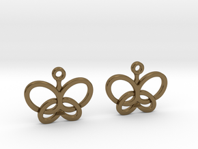 Custom Logo Earrings in Polished Bronze