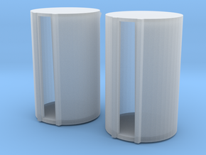 500 Gallon Fuel Barrels X 2 in Smooth Fine Detail Plastic