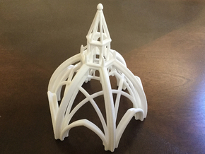 Gothic Chapel 1 Upper 70% Scale in White Strong & Flexible