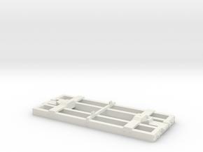 On30 Flat Car Frame Base 16 Ft in White Natural Versatile Plastic