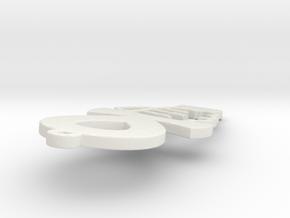 Ankh Power  in White Natural Versatile Plastic