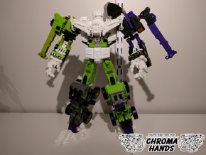 Energon Devastator FULL Upgrade Set in White Processed Versatile Plastic