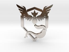 Team Mystic Pendant in Rhodium Plated Brass
