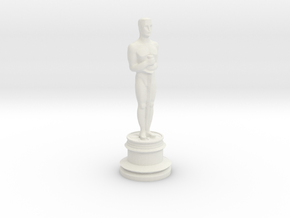 Oscar Trophy in White Natural Versatile Plastic
