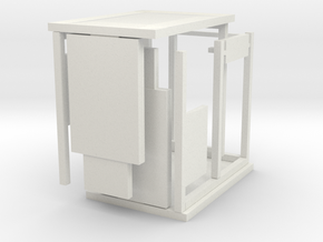 Bus Shelter type 3, 1:50th scale in White Natural Versatile Plastic