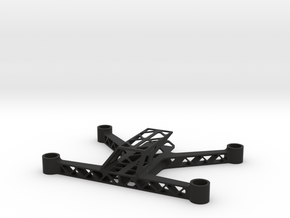 Trussed 123mm Micro FPV Quadcopter Frame  in Black Natural Versatile Plastic