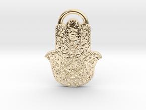 Lil Hamsa Pendant in 14K Yellow Gold