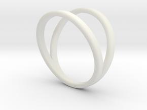 Split Ring Size 10 in White Natural Versatile Plastic