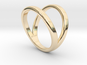 Split Ring Size 5 in 14k Gold Plated Brass