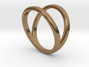Split Ring Size 7 in Natural Brass