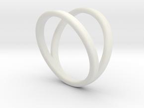 Split Ring Size 8 in White Natural Versatile Plastic