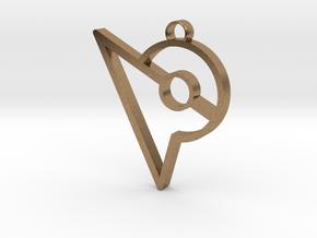 Pokemon Go Inspired Keychain in Natural Brass
