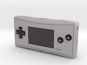 1:6 Nintendo Game Boy Micro (Silver) in Full Color Sandstone