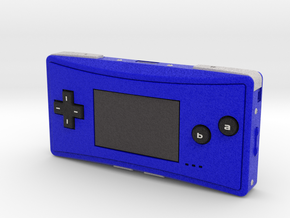 1:6 Nintendo Game Boy Micro (Blue) in Full Color Sandstone