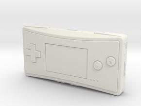 1:6 Nintendo Game Boy Micro (Pink) in White Natural Versatile Plastic
