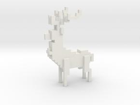 MALE Deer in White Natural Versatile Plastic
