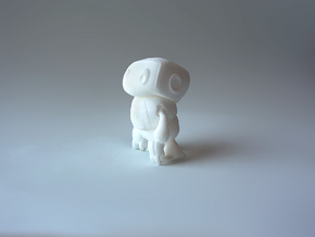 Kikonito - Tiny articulated bot in White Natural Versatile Plastic