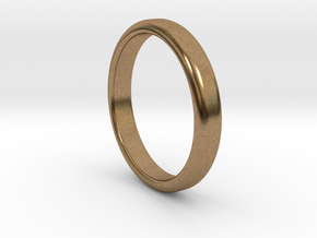 Ring Band Size 5 in Natural Brass