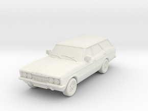 1:87 Cortina mk3 standard 4 door estate hollow in White Natural Versatile Plastic