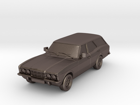1:87 Cortina mk3 standard 4 door estate hollow in Polished Bronzed Silver Steel