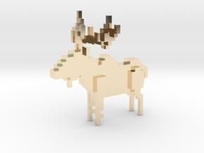 Moose in 14K Yellow Gold