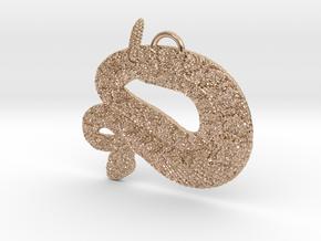 Rattler Pendant in 14k Rose Gold Plated Brass