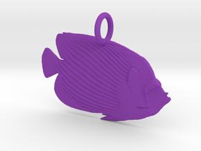 Stripes Pendant in Purple Processed Versatile Plastic