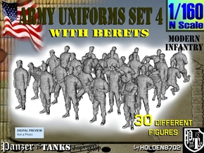 1-160 Army Modern Uniforms Set4 in Frosted Extreme Detail