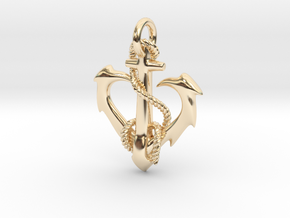 anchor heart in 14K Yellow Gold